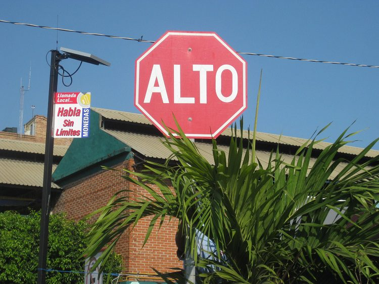 Stop signs in Mexico